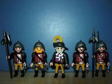 PLAYMOBIL vintage pirates soldats lot deux chapeaux blancs color infanterie 3608