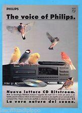 QUATTROR991-PUBBLICITA'/ADVERTISING-1991- PHILIPS - LETTORE CD BITSTREAM