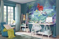 Muro murale sfondo Ariel la Sirenetta 254x184cm DISNEY + Adesivo GRATIS