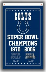 Indianapolis Colts Football Team Memorable Flag 90x150cm3x5ft Super banner