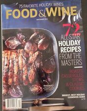 Food & Wine Holiday Drinks And Recipes Cookbook Dec 2014 FREE PRIORITY SHIPPING!