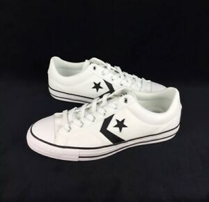 NEW Converse Star Player Ox Canvas Low Shoes Sneakers White Black Mens Size 11