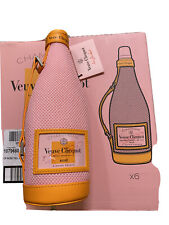 NEW! VEUVE CLICQUOT CHAMPAGNE WINE BOTTLE ICE JACKET CARRIER GIFT BAG ROSE BRUT