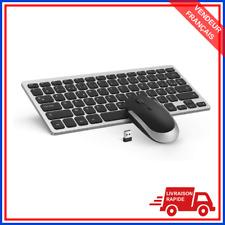 Ensemble clavier souris sans fil AZERTY ultra-mince compatible windows linux
