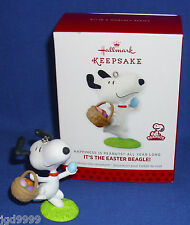 Hallmark Ornament Happiness is Peanuts #9 2014 It's the Easter Beagle Snoopy NIB