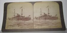 CIRCA 1898 STEREOVIEW - THE TEXAS - CAPT JACK PHILIP COMING HOME FROM SANTIAGO