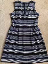 Madewell Navy Black White Stripe Dress Size Medium