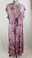 Carole Hochman women's sleepwear geometric print short sleeves tie waist sz p1x