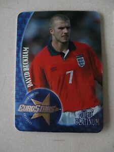 Futera Platinum Euro stars 2001 David Beckham Manchester United 0536 of 3800