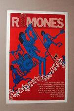 Ramones Concert Tour Poster 1989 Australasian tour