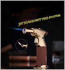 Jobon Blow Torch soft/jet flame switch lighter 1300'C resist gas windproof gold