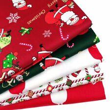 Christmas Cotton Fabric Santa Claus Elk DIY Clothing Sewing Handmade Crafts Xmas