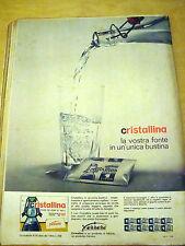PUBBLICITA' ADVERTISING WERBUNG 1964 CRISTALLINA FERRERO (EV29)