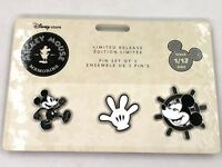 Mickey Mouse Memories Pin Set of 3 January Limited Edition New Disney Disneyland