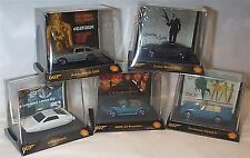 James bond set of 5 Minature cars shell promotion new