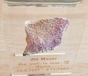 Germany Original Genuine Piece of The Berlin Wall Size M 5 cm in Acrylic Display