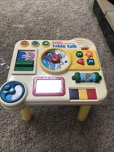 Vtech little smart table talk play vintage learning Center - removable legs