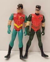 "DC Comics Batman ROBIN Action Figures 5"" Lot Of 2 Kenner Vintage"