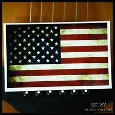 Sticker Autocollant Drapeau American Guitare Frigo Moto Vélo Punk Rock Vintage