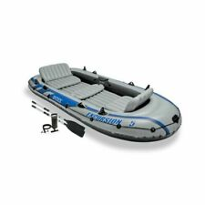 New Intex Excursion Inflatable Boat Series 4-person with Aluminum Oars/Air Pump