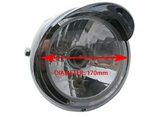 Motorcycle Motorbike Headlight Custom Chrome 12V 35W For Honda CG 125 CG125