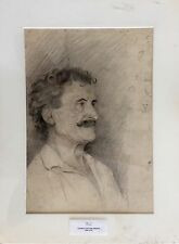 EXQUISITE ORIGINAL RARE PORTRAIT ART PENCIL DRAWING BY GEORGIA SEAVER THOMAS