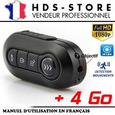 TÉLÉCOMMANDE CLÉ DE VOITURE CAMÉRA ESPION TCHD1 FULL HD 1080P + 4 GO 2 LED IR