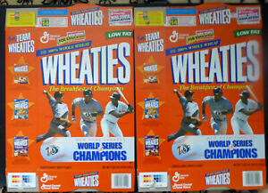 1996 Wheaties, Women's Gymnastics Gold Medalist Box ,Lot of 2 Flat Boxes, FS