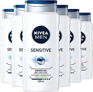 6 x NIVEA MEN Sensitive Shower Gel - 250/400 ml