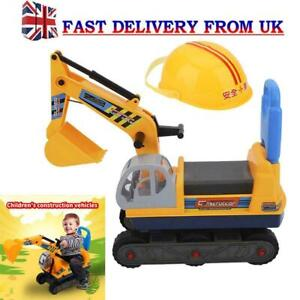 Kids Sand Pit  Digger Children Play  Excavator Construction Truck Sit  On Toy UK