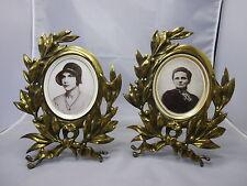 2 Jugendstil Bilderrahmen Messing / Bronze 24,5 x 20,5 cm  #48