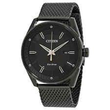 Citizen Drive Black Dial Black Ion-plated Mesh Men's Watch BM6988-57E