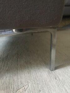 Set of 4 B & B B.B. Italia  polished steel/ chromed legs Charles style sofa