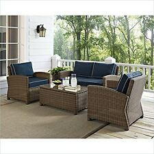 Crosley Furniture Bradenton 4 PC OutDr Wicker Seating Outdoor Sofa Set