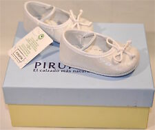 NEW: PIRUFIN Baby Shoes made in Spain: Size 1 (EU 16) FREE SHIPPING-White