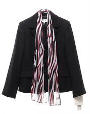 SUIT STUDIO $200 NEW 2822 Striped Blazer With Scarf Womens Jacket 8P
