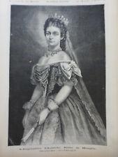 1882 MI SISSI ELISABETH IMPERATRICE AUTRICHE REINE HONGRIE