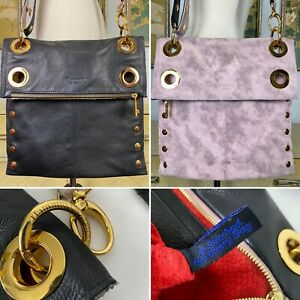 Hammitt Montana LRG Reversible Bag In Black Leather And Pink/Lavender Suede