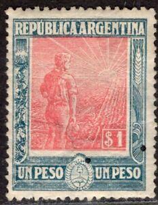 ARGENTINA 1912/3 STAMP Sc. # 201 MH LABRADOR