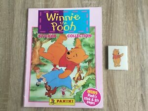 WINNIE THE POOH STICKER ALBUM COMPLETE WITH ALL STICKERS (Inserted) By PANINI