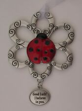 k Good luck I believe in you Loving Little Ladybugs Ornament ladybug ganz