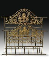 Bed frame. Gilded bronze and metal. 19th century.