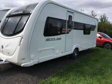 Swift Sterling Eccles Solitaire SR 2011 Caravan Twin Fixed Beds End Washroom
