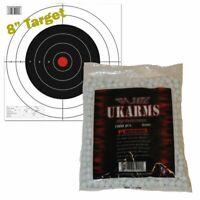 WHITE 1,000 AIRSOFT BBs Pellets 6mm .12g BB For Pistol Gun Rifle AMMO + Target