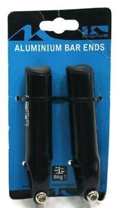 M-Wave BeAnatomic Aluminum Mountain Bike Handlebar Bar Ends 100mm 86g light
