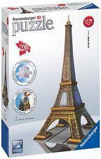 Ravensburger 125562 -Tour Eiffel (Paris) -Puzzle 3D, 216 pièces