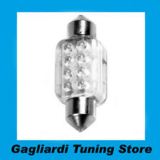 Lampada Siluro 8 Led BIANCO 12V 13x35mm  SV8,5-8 C5W  C10W Lampadina Luci C58434