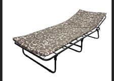 Folding bed with Mattress Guest Single Bed Compact Put You Up Spare Bed