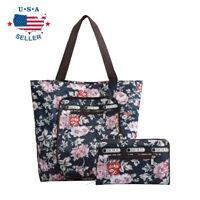 Foldable Tote Bag for Women Top Zipper Closure Premium Quality Lightweight Cute