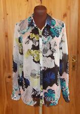 WAREHOUSE ivory aqua black peach blue chiffon long sleeve blouse shirt top 8 36